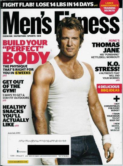 MEN'S FITNESS MAGAZINE JUNE / JULY 2010 THOMAS JANE