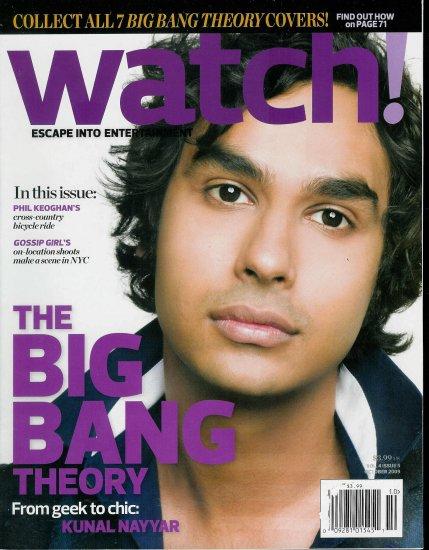 WATCH! MAGAZINE OCTOBER 2009 KUNAL NAYYAR, GOSSIP GIRL'S
