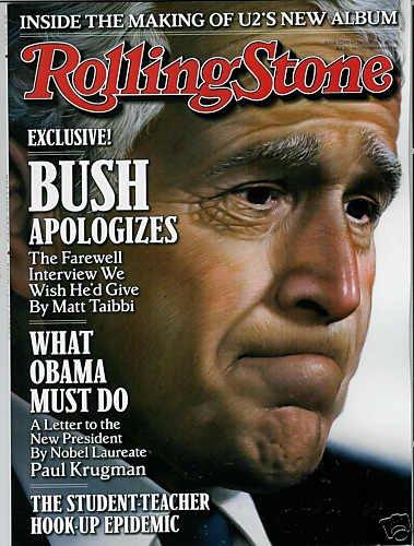 ROLLING STONE MAGAZINE JANUARY 22, 2009 GEORGE BUSH