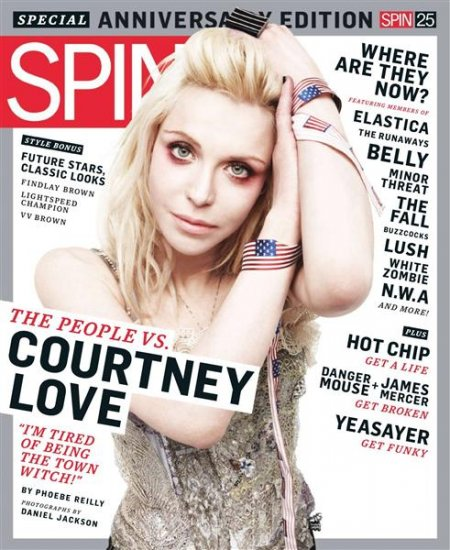 SPIN MAGAZINE MARCH 2010 COURTNEY LOVE