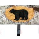 BEAR ON LOG 3 HOOK COAT RACK - DISCOUNT GIFTS ONLINE