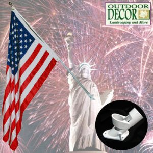 6 FOOT FLAG POLE KIT - AMERICAN FLAG - INDEPENDENCE DAY