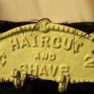 Cast Iron Haircut & Shave Plaque W/ 4 Hooks - COLLECTIBLE - DISCOUNT GIFTS ONLINE