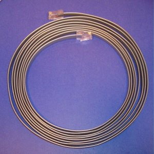 Flipped cable 15ft - Flat Satin 26awg 8conductor