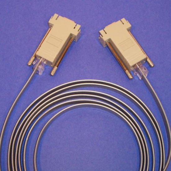 Combo 2 Cisco RJ45-DB9 Adapters and 1 Cable 8ft  Flipped.