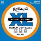 D'Addario EXL 110 Nickel Regular Light Guage