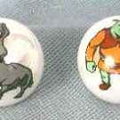 Marbles -- Shreck & Donkey in MOP - Set of 2