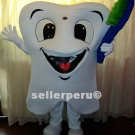 NEW ADULT TOOTH COSTUME DELUXE MASCOT up 5' 9""