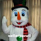 NEW ADULT SNOW MAN DELUXE COSTUME MASCOT up 5' 8""