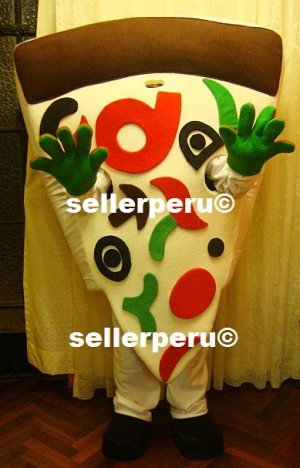 """NEW ADULT PIZZA DELUXE COSTUME MASCOT 5' 9"""""""