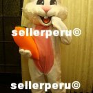 NEW ADULT RABBIT COSTUME DELUXE MASCOT up 5' 9""
