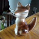 ANTIQUE CERAMIC FOX - CUTE 3INCH BY 2 INCH