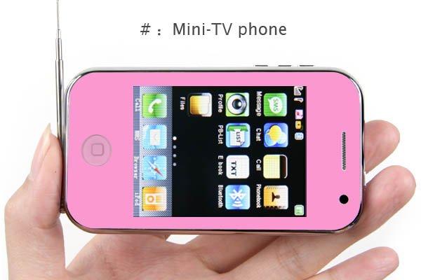 "2.6"" TV JAVA 4-Band 2-Sim Standby PDA Cellphone P081-A7"
