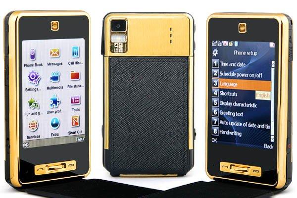 "2GB TF + 3.0"" 3-Band 2-SIm Standby PDA Mobile Phone PB4-T45"