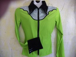 Lime/Black, Western Pleasure, Rail, Showmanship, Shirt