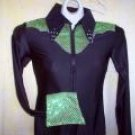 Black/Lime Green, Western Pleasure, Rail, Showmanship, Shirt