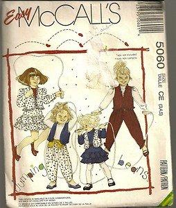 McCall's Sewing Pattern 5060 Jumping Beans Geni Pants Ruffle Skirt Jacket 3-5