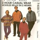 McCall's Sewing Pattern 7409 2 Hour Casual Wear Jog Pant Fleece Top Large Unisex
