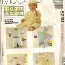 McCall's Sewing Pattern 5710 Baby 15-32 lb Jumpsuit Hat Mittens Lined Pants Top