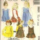 McCall's Sewing Pattern 3831 Ruffle Skirt Jumper Dress Drop Waist Size 4