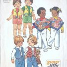 Simplicity Sewing Pattern 6239 Poncho Vest Pants Size 2 Vintage 1974 Toddler