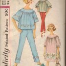 Simplicity Sewing Pattern 4587 Vintage Pajamas PJs Nightgown Bag Size 14 Lounge