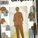 Simplicity Sewing Pattern 7585 Skort Long Blouse Shorts Pants Size 12 -16 Uncut