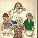 Butterick Sewing Pattern 4254 Vintage Girls Blouses Tailored Button Pocket S 12