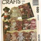 McCall's Sewing Pattern 680 Santa Bear Sailor Bride Plush Clothes Uncut Doll