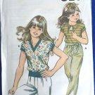 Kwik Sew Sewing Pattern 1144 Girl's Top Short Sleeve Rib Bottom Uncut 8-14 Knit