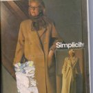 Simplicity 6578 Sewing Pattern Coat Lined Long Double Breasted Size 12  Uncut