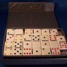 Dominoes Game Cardinal Case Box 53 Tiles White Colored Dots Crafts Projects