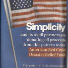 Simplicity Sewing Pattern 0676 American Flag Transfer Applique Eagle Uncut