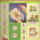 Teach Yourself Counted Cross stitch Leisure Arts Leaflet 52 VTG 1975