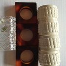 Napkin Rings Lot of 11 Vintage Lucite Tortoise Shell White Clear Plastic Table