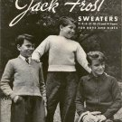 Jack Frost Sweaters Volume 58 Boys Girls 2-14 Vintage 1950