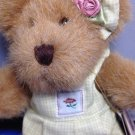 "Leiselle Bloomengrows Boyds Bears Bear Green Jumpsuit and Bow on Ear 8"" Jointed"