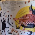 Daisy Kingdom Door Panel Broomzelda Witch Halloween Sew Easy 1997 Black Cat Uncu