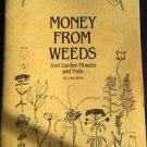 Money from Weeds and Garden Flowers and Pods White