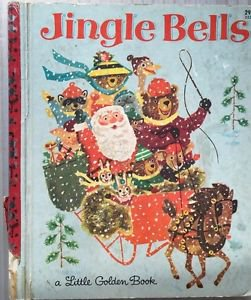 Jingle Bells Little Golden Book 1964 A Red Spine Daly