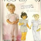 McCall's Sewing Pattern 2371 Toddler 4 Overalls Blouse Shorts Ruffle Eyelet Girl