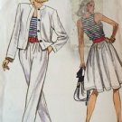 Vogue Sewing Pattern 7167 Very Easy Vintage Skirt Flared Loose Jacket 8-12 Uncut