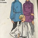 Vogue Sewing Pattern 7644 Tunic Top Blouse Tie Neck Long Sleeve Vintage Size 10