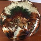 Hat Pill Box Pheasant Feather Vintage Women's Unbranded McCurdy's Box Union Made