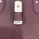 Purse Shoulder Bag Esprit Dark Brown School Silver Hardware Zip Compartments
