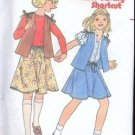 Butterick Sewing Pattern 6424 Marie Osmond Sews Girls 7-12 Vest Skirt Vintage