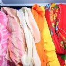Scarf Lot 7 Vintage Long Narrow Chiffon Nylon Head Neck Scarves Boho 1950-60