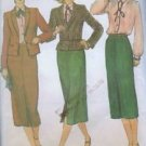 Vogue Sewing Pattern 7214 Long Skirt Suit Blouse Jacket Size 8 Business Wear