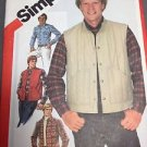 Simplicity Sewing Pattern 5350 Men's Quilted Vest Shirt Size 42 Back to School