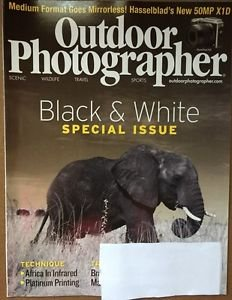 Outdoor Photographer Magazine New August 2016 Special Black & White Issue